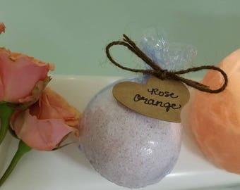 Large Rose Orange Bath Bomb - 4.5 oz