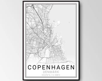 Copenhagen city map