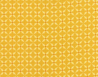 END OF BOLT - 1.5 Yards - Fancy Golden Criss Cross Yardage for Moda Fabrics  - 100 % cotton - Quilting