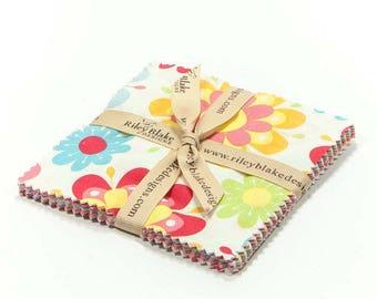 "Just Dreamy 2 - 5""x5"" Charm Pack - Precuts 42 Pieces  - Zoe Pearn Designs for Riley Blake Designs - Cotton Fabric - Precut Fabric"