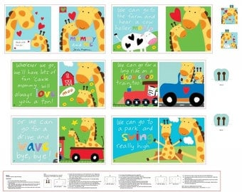 """Huggable & Lovable Books - Mommy and Me Multi Book Panel by Sandra Magsamen for Blank Quilting - 36"""" Book Panel - Book Panel"""