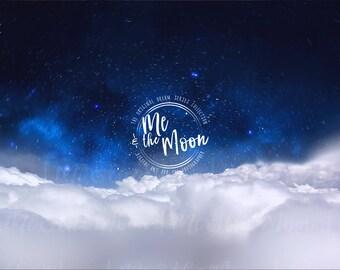 NIGHT SKY BACKDROP / Fantasy Backdrop/ Digital Backdrop/ Digital Background/ Digital Overlay