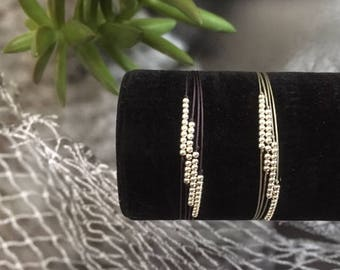 925 Sterling silver string bracelets with four strings
