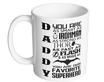 Daddy You Are Our Favorite Superhero Coffee Mug From Son Best Fathers Day Gift