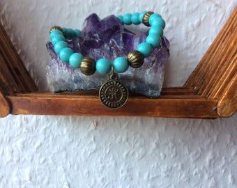 Bracelet, hippie, Boho, Goa, handmade, om symbol