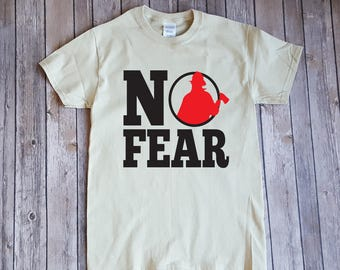 No Fear Firefighter Typography Design