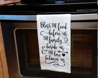 Blessing decorative tea towel