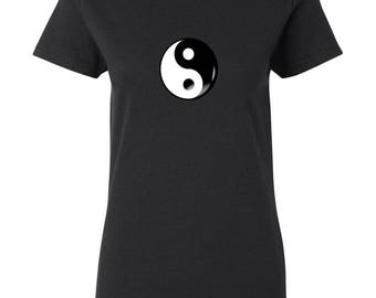 Yin and Yang Shirt, Yin and Yang Tee, Yin and Yang Top, Womens Yin and Yang Shirt, Womens Yin and Yang Tee, Womens Yin and Yang Top