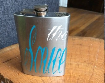 Flask Hand Painted