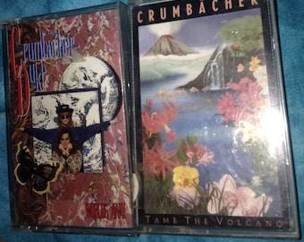 Crumbacher cassette tape lot: Tame The Volcano + Worlds Away (Duke)