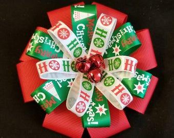 Jingle Bells Hair Bow