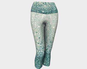 Yoga Capris - Cool Crystal