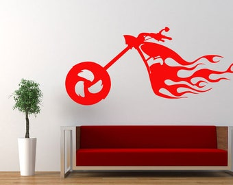 Wall Decal Motorcycle Decals Motorbike Decal Harley Wall Decal Harley  Davidson Wall Decal Motor Bike Vinyl Part 90