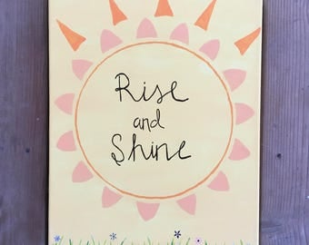 Rise and Shine canvas