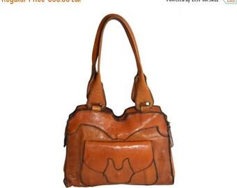 Vintage brown genuine leather purse bag handbag 30s 40s Zipper WICO