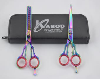 "Professional Hair Cutting Japanese Scissors Barber Stylist Salon Shears 6"" 440C stainless steel."