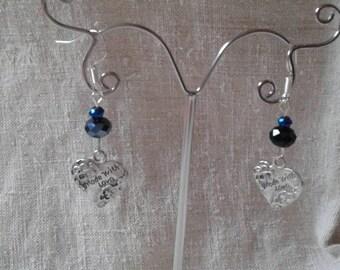 """Earrings """"pretty silver heart"""""""