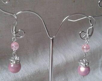 """Earrings """"in pink"""""""