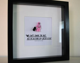 Power Rangers//Pink Ranger//Minifigure//Shadow Box Frame//Gift//Personalise//Geek//Birthday//Kids Room//Nursey
