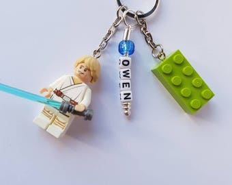 Star Wars//Minifigure//Key Ring/Key Chain/Bag Tag//Any Name/Personalised//Gift/Back to School/Birthday/Mothers Day/Fathers Day/Lego Brick