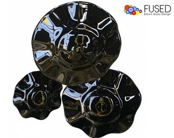 Blown Glass Bowls Wall Art 3 Pcs Set