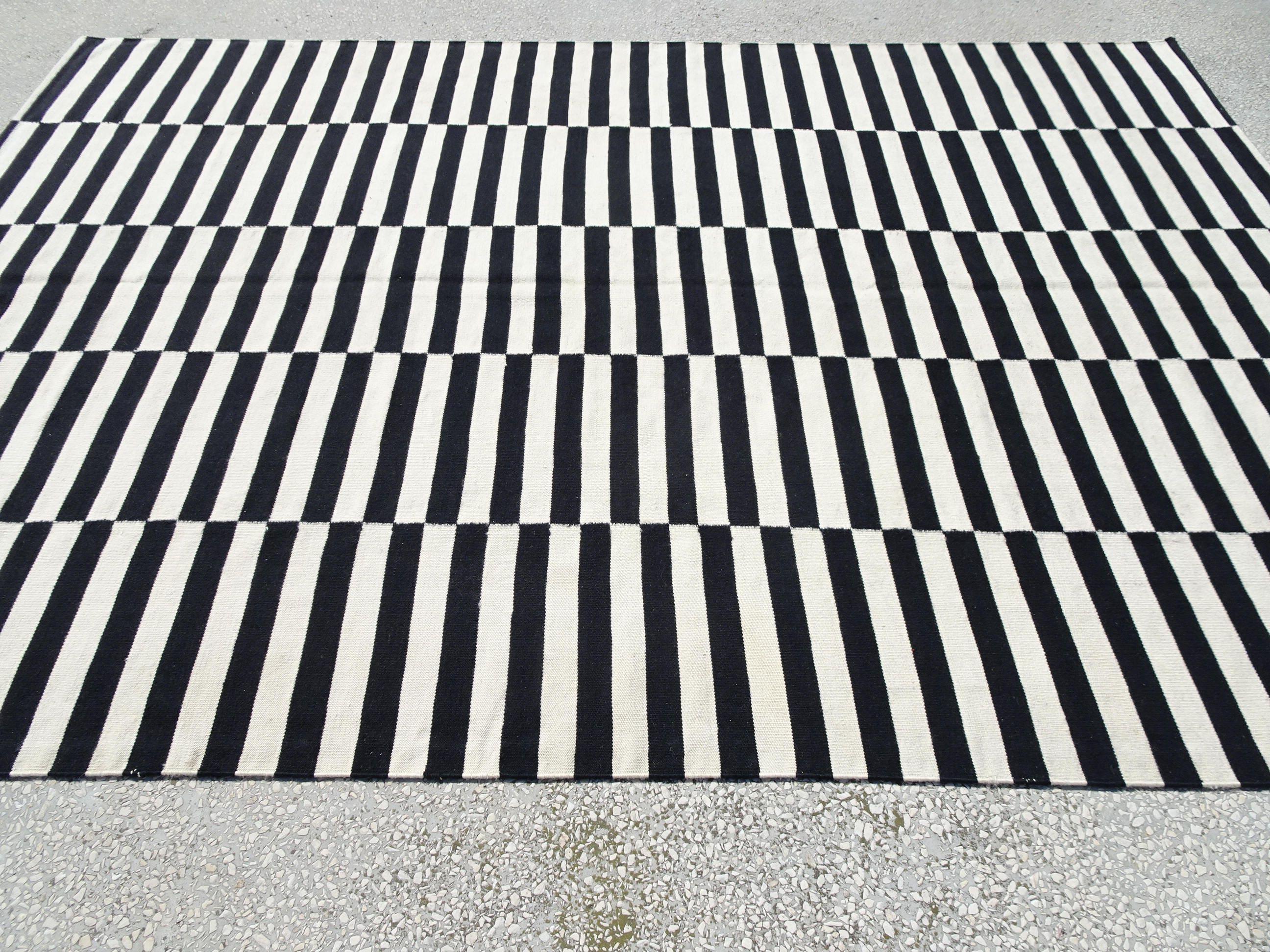 Black And White Rug,11,2x7,6 Feet 340x230 Cm Vintage Home Decor ...