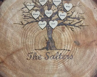 Wooden family tree/ wall plaque