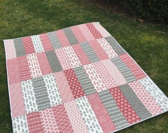 """Hand quilted """"throw"""""""