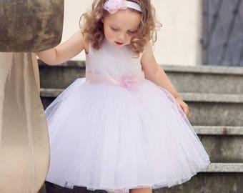 SELENA - flower girl dress, flower girl dress tulle, first birthday dress, tulle dress for girl, dress for girl, dress for birthday