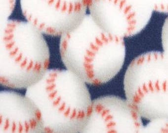 Packed Baseballs Printed Fleece Tied Blanket
