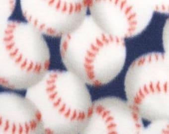 Packed Baseballs Printed Fleece Tied Blanket