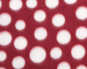 Red and White Dot Printed Fleece Tied Blanket