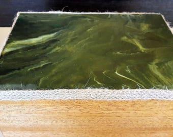 Wood and resin box