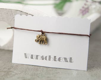 Bracelet elephant - wedding, JGA, friendship, hen - various colours, Friendship Bracelet, minimalist