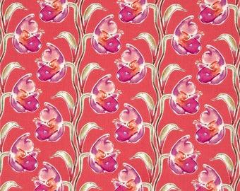 Fabric pink patchworkF Free Spirit-BLOSSOMING Kathy Davis