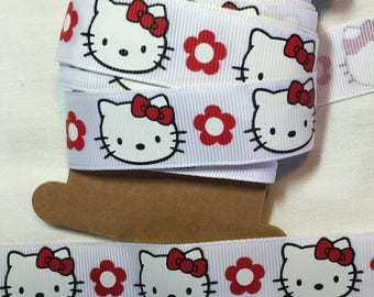 Ribbon grosgrain hello kitty cat customisation