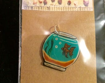 Handmade Beta Fish Bowl Charm