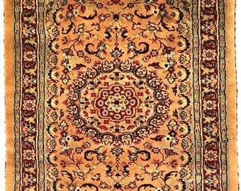 Persian Tabriz Hand Knotted Silk Wool Rug