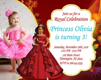 Elena of Avalor Invitation Birthday Party