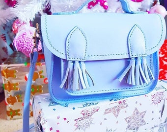 Bags & Purses   Handbags   Crossbody Bags   Satchel Bag   Blue Bag   Blue Satchel Bag   Small Bag   Small Crossbody bag   Bag With Tassels
