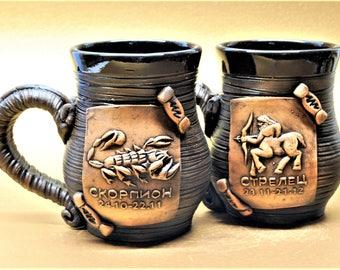 Zodiac.Anniversary Gift,Capricorn.Aquarius.Taurus.Gemini.Cancer.Lion.Virgo.Libra.Scorpio.Sagittarius.Aries.Pisces.Personalized Beer Mug.Beer