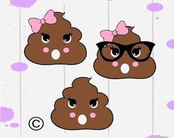 Poop svg files, Valentines's day svg, Christmas svg, Kids svg, Svg for girl, Cricut, Cameo, Cut file, Clipart, Svg, DXF, Png, Pdf, Eps