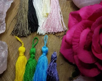 Long Lux Mala Tassels pack of 9 in a variety of colours