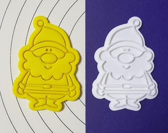 Cute Santa  Cookie Cutter and Stamp