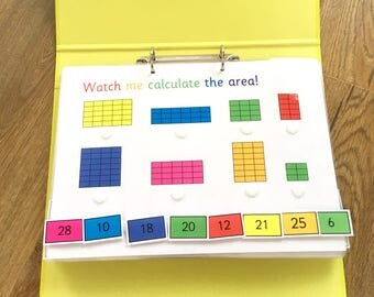 Year 4 learning folder, Key stage 2, KS2, 10 Sheets, Personalised, Angles, timestables, area, clock, 3D shapes, fractions, coins, maths aid
