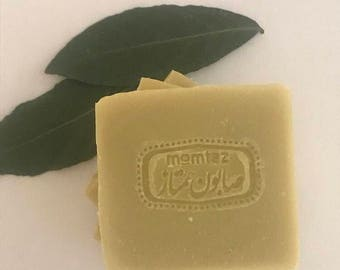 Aleppo Soap 40% Laurel Berry Oil - Authentic Aleppo- 4.5oz - Natural, Neutral, Vegan, Unscented Soap Bar. pH 7-8