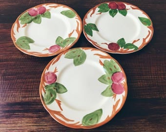 Franciscan Apple Salad Plates (Set of 3)