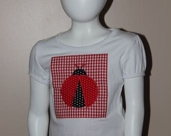 Girls Lady Bug Shirt