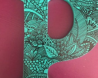 Custom Zentangled Letter