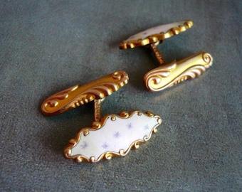Art Nouveau Enamel Cufflinks